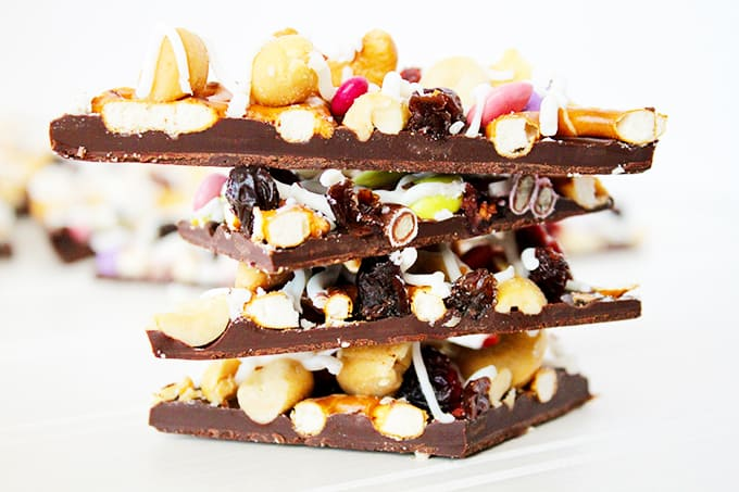 Trail Mix Candy Bark